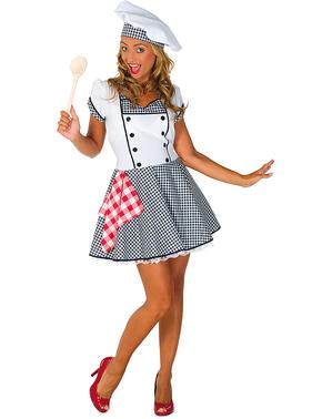 Fato de cozinheira sexy para mulher