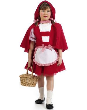 Lány kis vörös lovaglás kapucnis jelmez