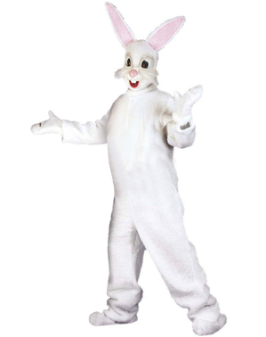 Kaninkostume med ører til voksne