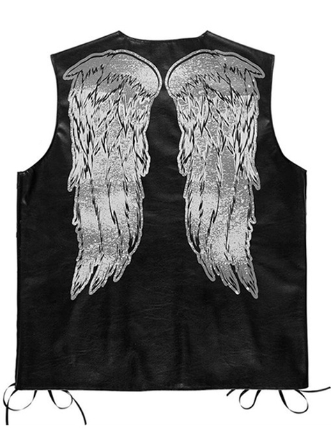 Chaleco de motorista con alas para hombre