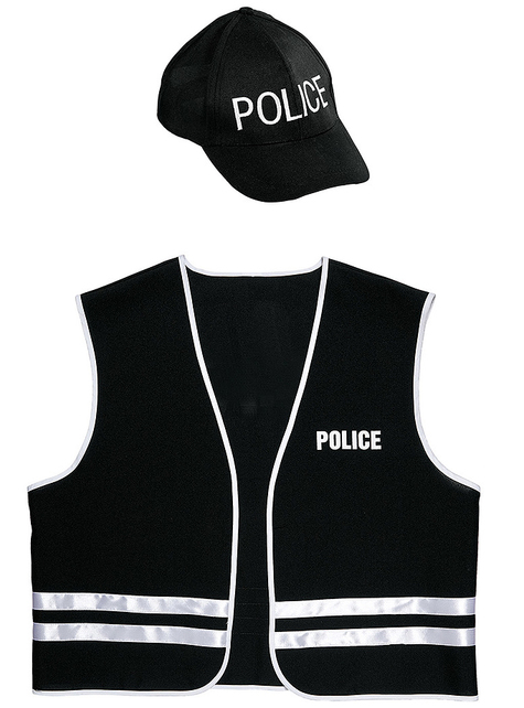 Adults' Police special forces costume kit
