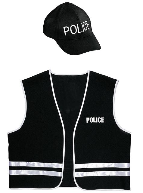 Kit disfraz de policía especial para adulto