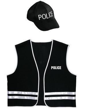 Politi specialstyrke kostume sæt til voksne