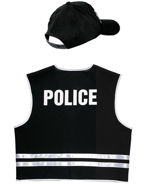 Kit Fato de polícia especial para adulto