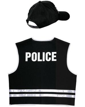 Set Maskeraddräkt specialpolis för vuxen