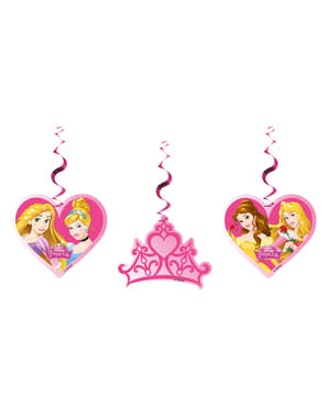 3 Hanging Princess Spirals - Princess Dreaming