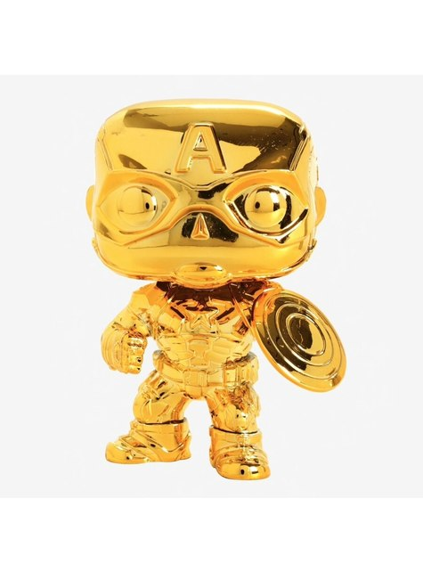 Funko POP! Capitan America Gold Chrome - Studio's 10th Anniversary
