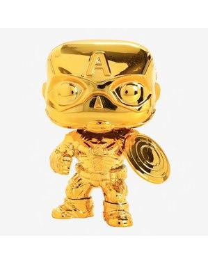 Funko POP! קפיטן אמריקה זהב Chrome - יום השנה ה -10 של סטודיו