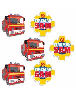 Set di 8 gomme di Sam il pompiere