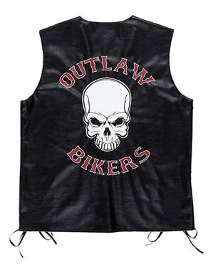 Stoere Biker vest voor mannen