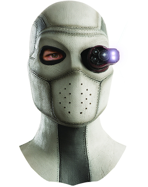 Man's Deadshot Suicide Squad Full Mask with Light