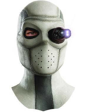 Máscara completa de Deadshot Esquadrão Suicida com luz para homem