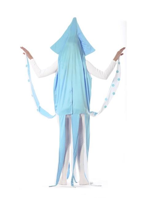 Adults blue marine squid costume