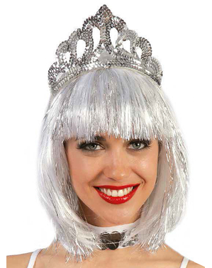 Silver Headband with Sequins