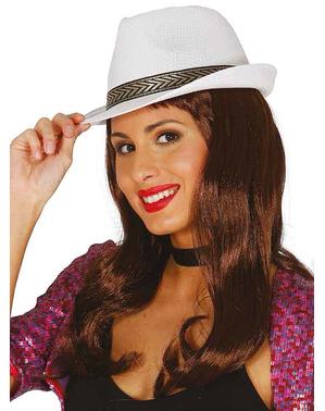 Unisex white casino hat