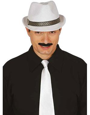 Witte hoed met band unisex