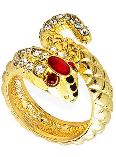 Anel serpente dourado para mulher