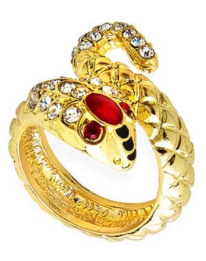 Gouden ring met slang voor vrouw