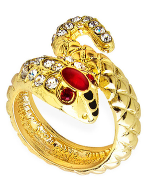 Złoty pierścionek wąż damski