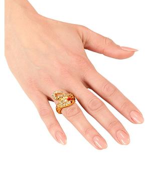 Naisten kultainen käärme sormus