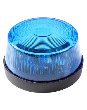 Flashing blue siren light