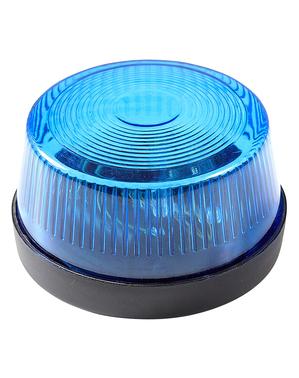 Luz parpadeante de sirena azul