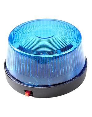 Blikající modré světlo siréna