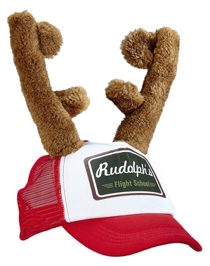 Adults' cap with reindeer antlers