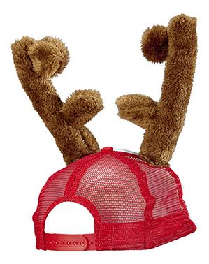 Gorra con cuernos de reno para adulto