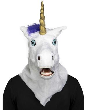 Mască de unicorn moving mouth pentru adult