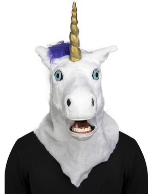 Unicorn moving mouth mask for adults