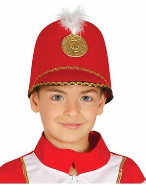 Kapelusz wojskowa tancerka czerwony dla dzieci