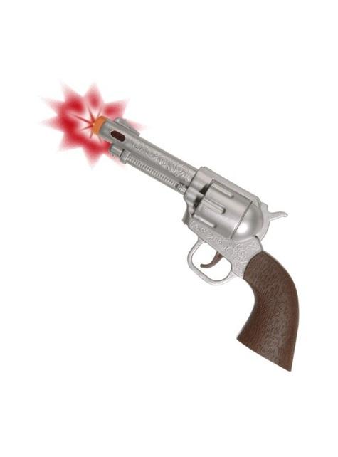 Pistolet kowboja ze światłem i z dźwiękiem
