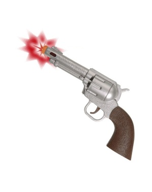 Cowboy pistol with light and sound