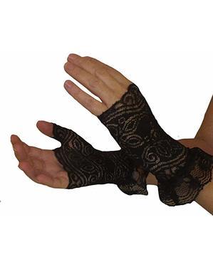 Zwarte handschoenen Steampunk