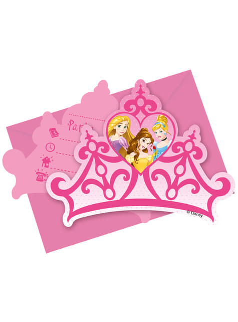 6 invitaciones Princess Dreaming