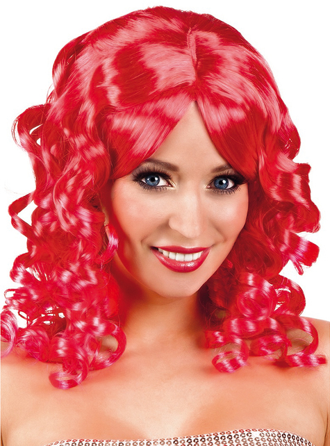Peluca ondulada roja para mujer