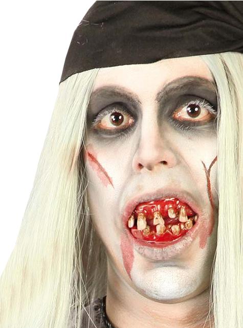 Dientes de Pirata Zombie Sangrientos