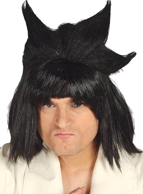 Black Manga Man Wig