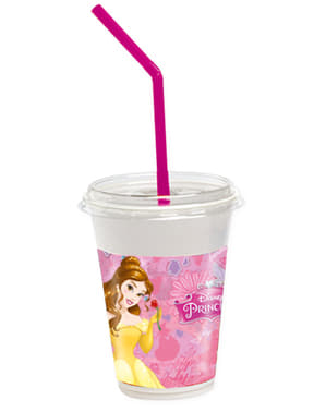 12 Princess Dreaming Cups with Straws