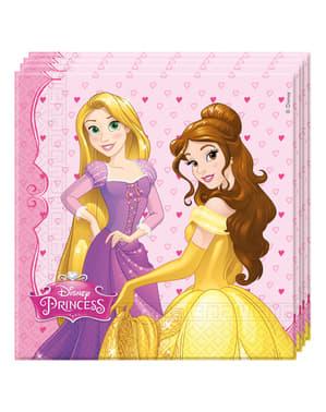 20 kpl pakkaus Unelmoivat Prinsessat -lautasliinoja