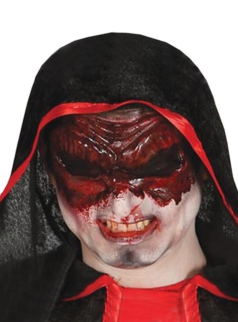 Antifaz de látex de monstruo sin ojos