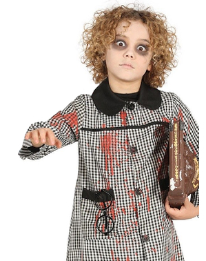 Blouse étudiant zombie enfant
