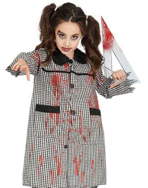 Bata de colegio zombie infantil