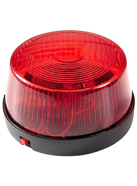 Luz parpadeante de sirena roja
