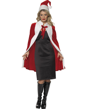 Mrs Claus luxury cape
