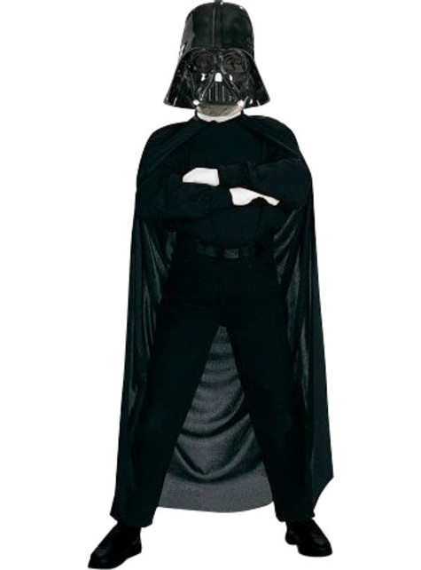 Darth Vader mask and cape kit for a boy