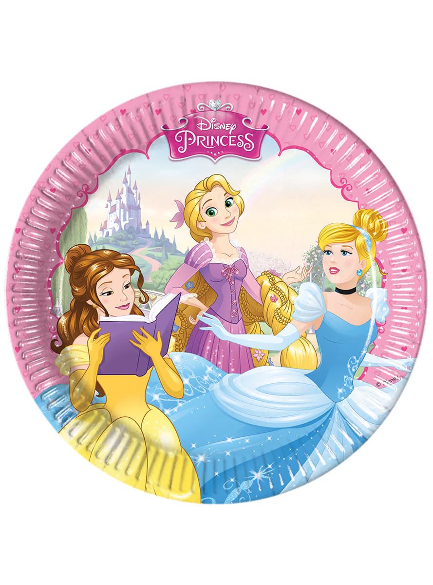 Set de 8 platos princess dreaming comprar online en for Set de platos