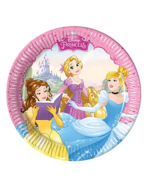 8 kpl Unelmoivat Prinsessat -20 cm lautasia