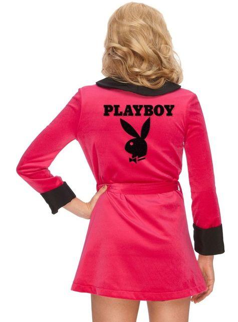 Sexy župan playboy růžový